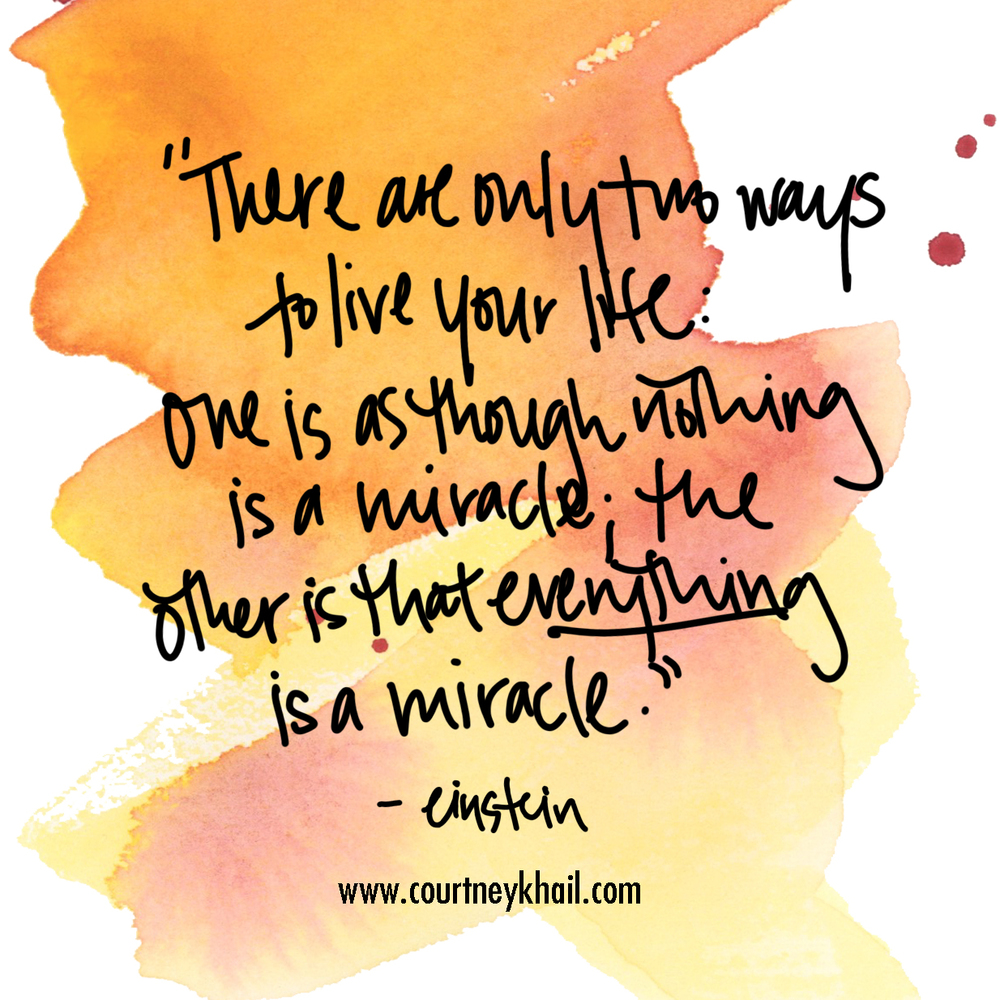 everything is a miracle | southern artist courtney khail | watercolor quote