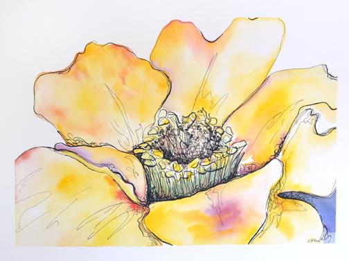 Courtney Khail | Golden | Atlanta watercolor artist
