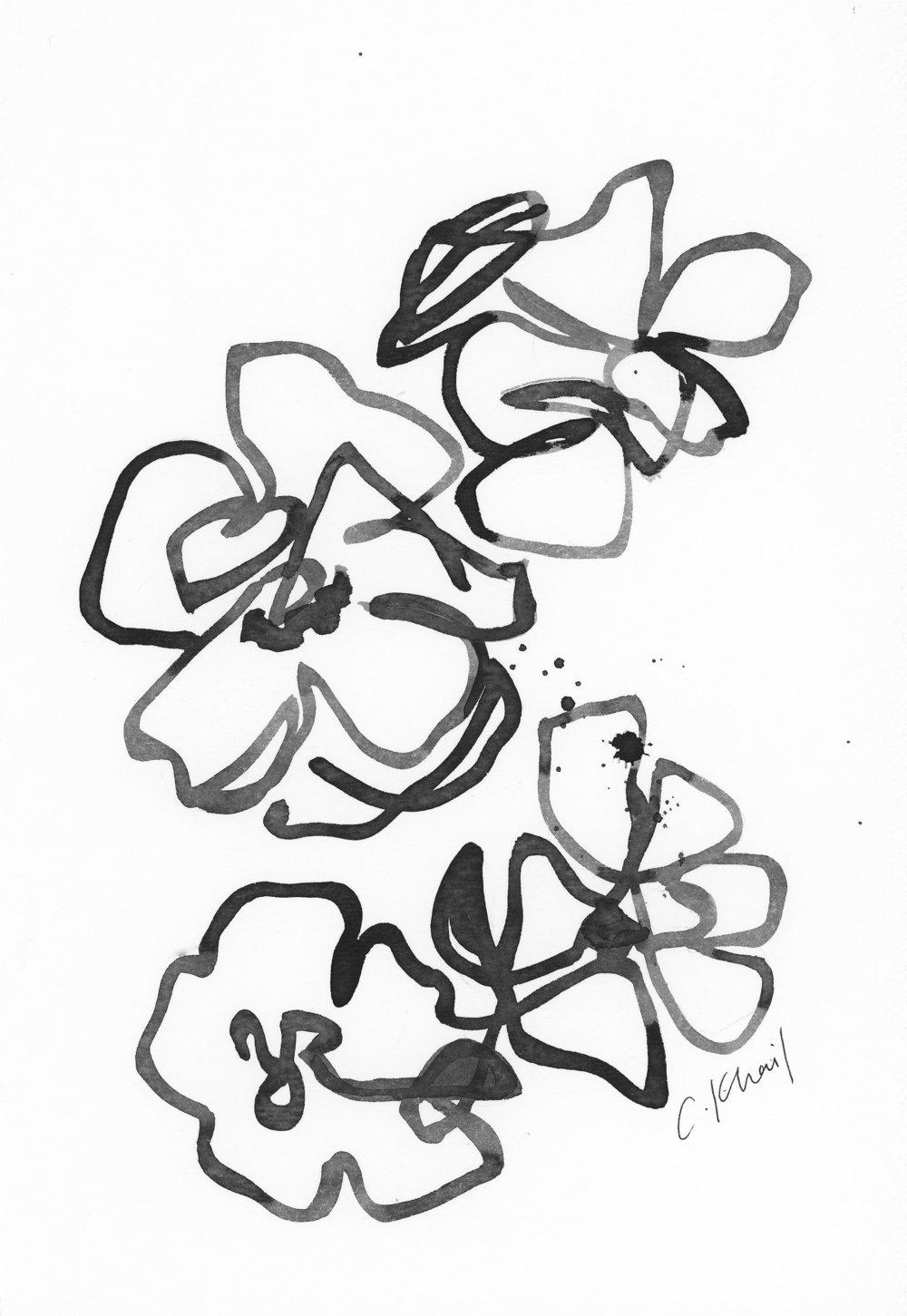 Courtney Khail | the black and white series no 6 | Atlanta artist