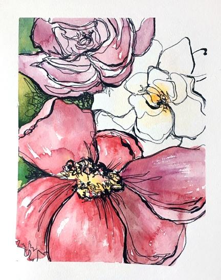 """""""Claire de Lune"""" by Courtney Khail   original watercolor   Southern Artist"""
