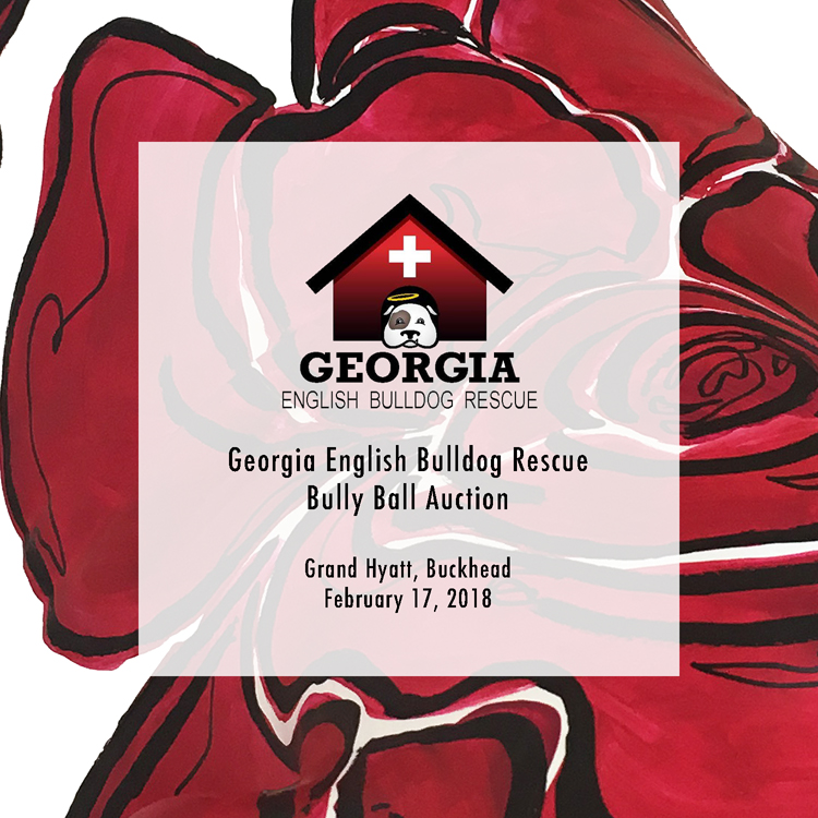 The 9th Annual Bully Ball - In honor of the University of Georgia's Rose Bowl victory this past season, Courtney painted large, abstracted red roses across a life-size bulldog statue for the Ball's Silent Auction. All proceeds from the piece will benefit the Georgia English Bulldog Rescue. For more information on the ball and the rescue, please click here.
