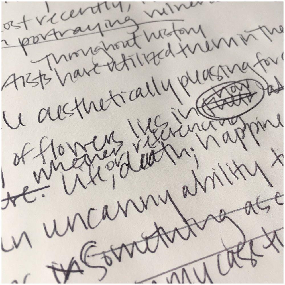 Writing an artist statement   Courtney Khail