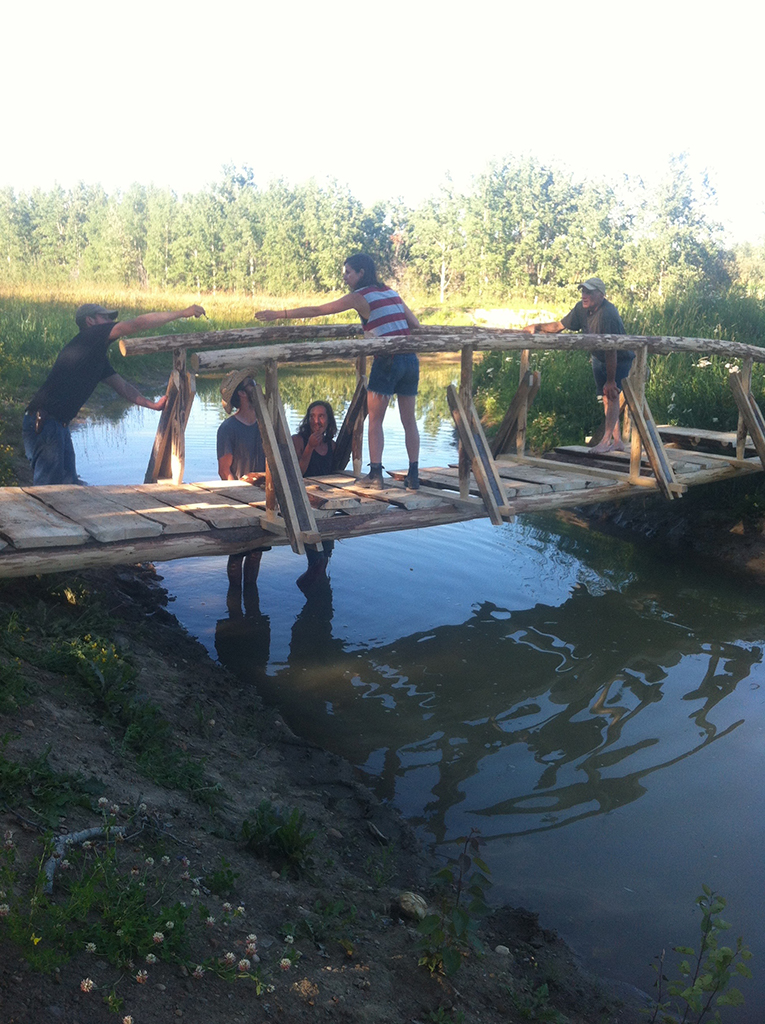 Constructing the Bridge for Tim and Linda | 2016