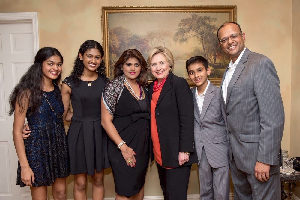 Secretary Hillary Clinton, Hetal and her Family