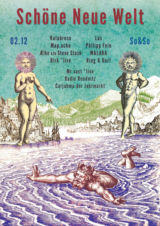 """""""Schöne Neue Welt"""" Event Poster series for So&So (Leipzig)"""