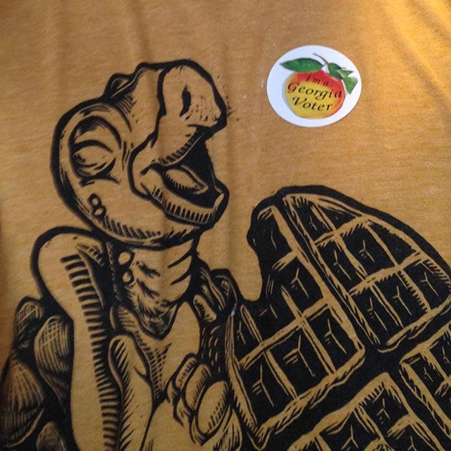 Yep, voting makes you feel like a turtle eating a waffle. #voteearlythrufriday