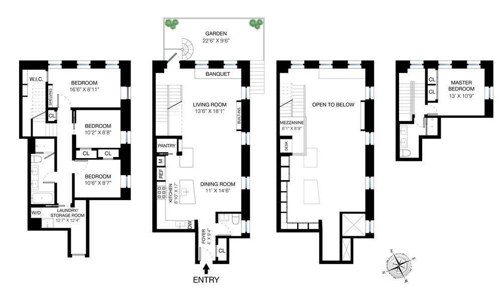 303 Mercer B102 Floor Plan
