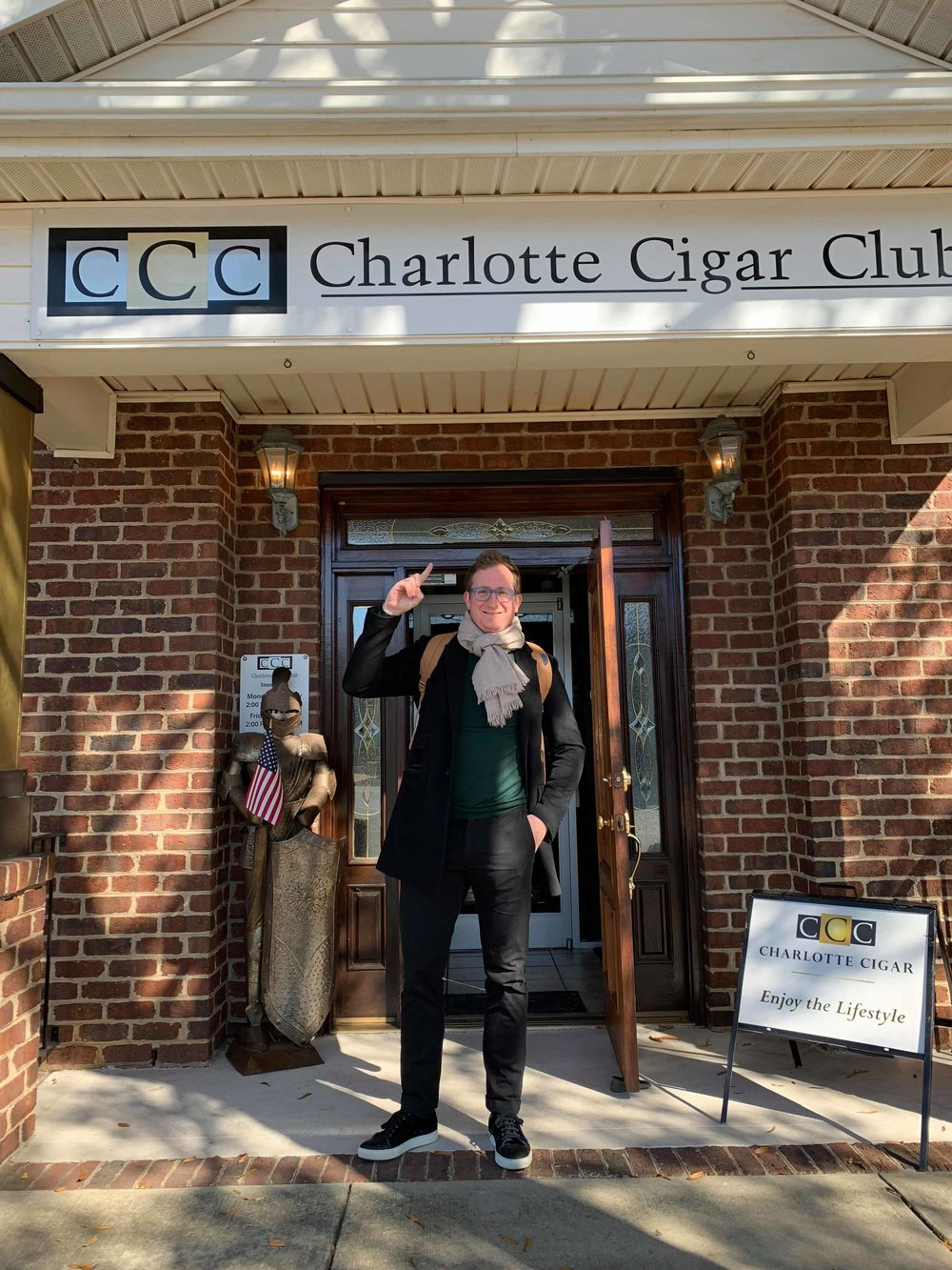 Jay's happy place, the Charlotte Cigar Club