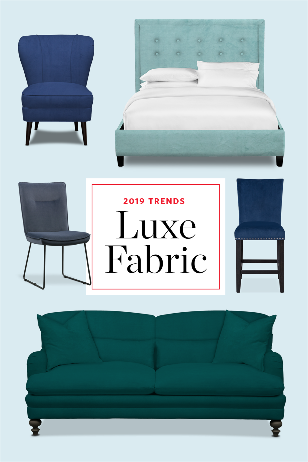 decor trends - luxe fabric