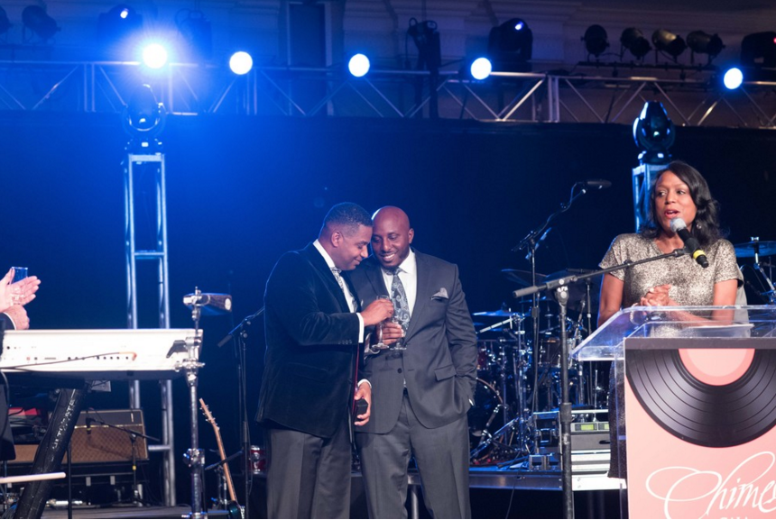 Celebrating at the Chimes Gala with Honoree Calvin Butler