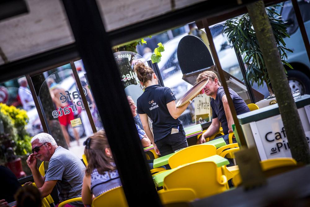 Terrasse de la brasserie Café le Pirate Granville