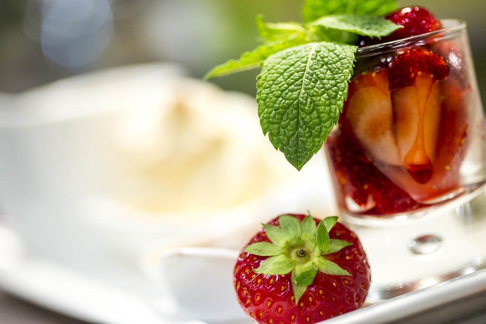 Verrine de fraises Café le Pirate Granville