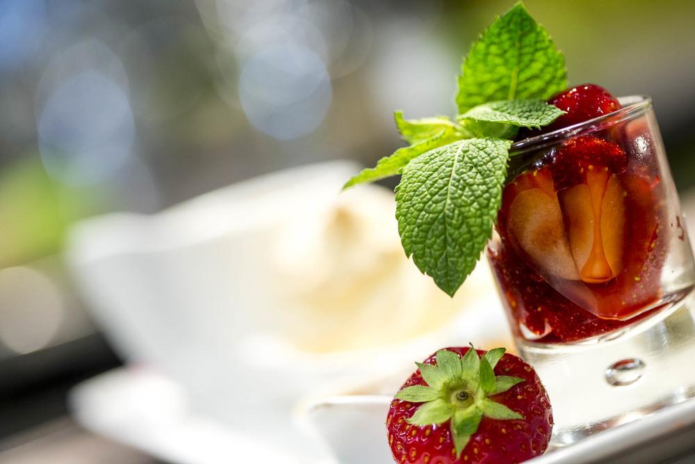 Mini verrine de fraises