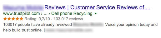 exemple resultat recherche google
