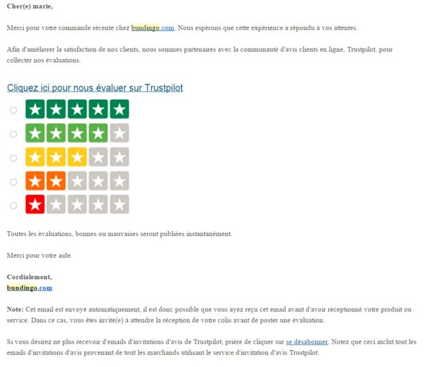 email france Trustpilot
