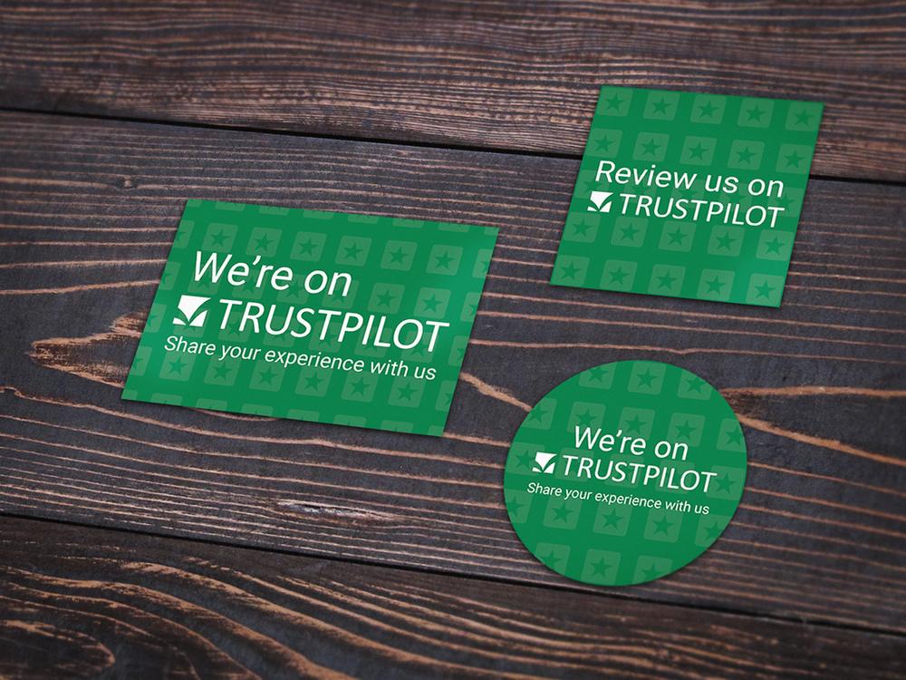 autocollants Trustpilot
