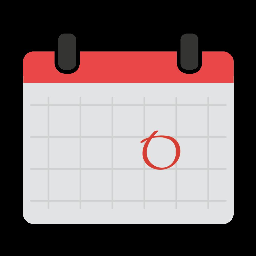 photo de un calendrier