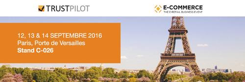 Rencontrez Trustpilot au salon E-Commerce Paris 2016 sur le Hub E-commerce