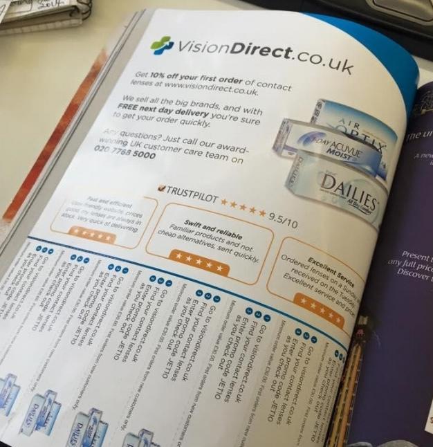 annonce magazine trustpilot vision direct