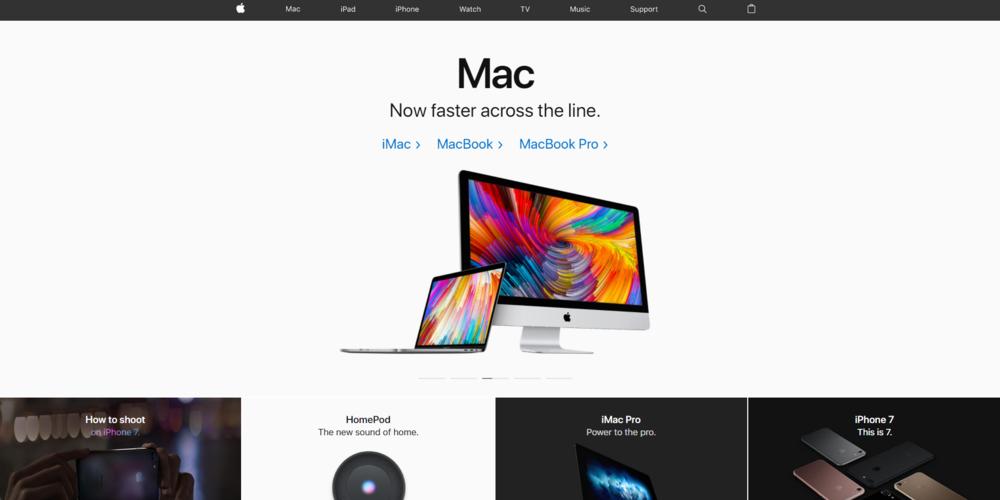 site web apple vitesse chargement