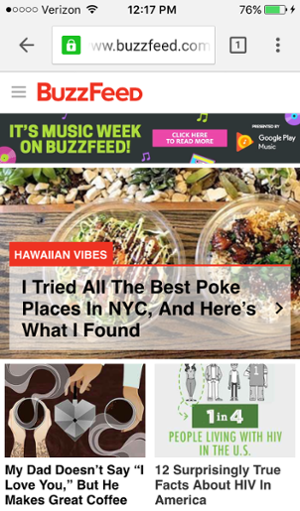 buzzfeed site mobile