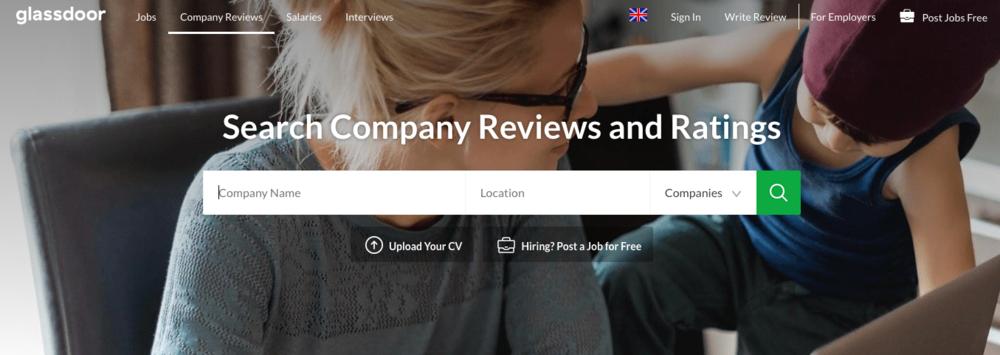 Glassdoor collecte des avis et des informations anonymes pour les employés potentiels