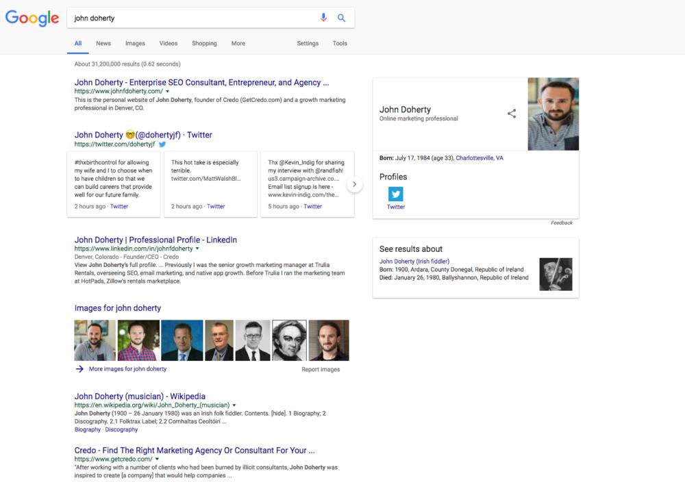recherche google john doherty