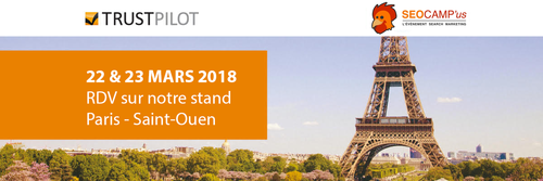 RDV au SEO Campus Paris 2018 pour rencontrer Trustpilot