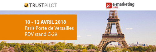 Trustpilot participera au salon E-marketing Paris 2018