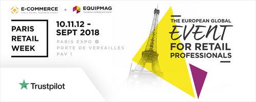 Rencontrez Trustpilot à Paris Retail Week au salon E-Commerce Paris 2018