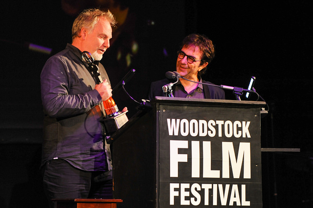 Atom Egoyan and Guy Maddin honored at 2015 Woodstock Film Festival Maverick Awards. Photo by Simon Russell