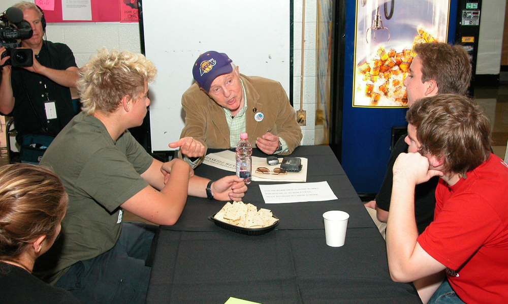 Haskell Wexler at Annual WFF CAREER DAY in 2002