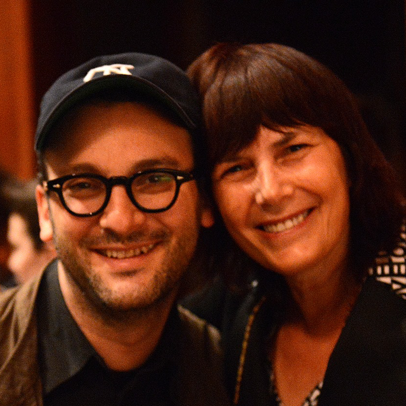 Josh Fox with Woodstock Film Festival Executive director Meira Blaustein