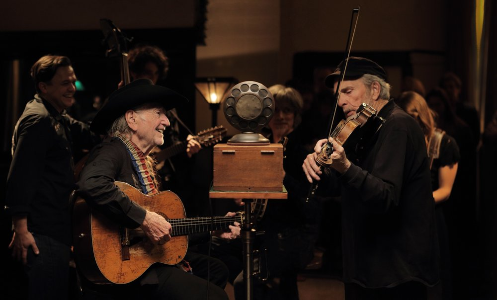 Willie Nelson in The American Epic Sessions, prod. by Jack White, Robert Redford, and T Bone Burnett