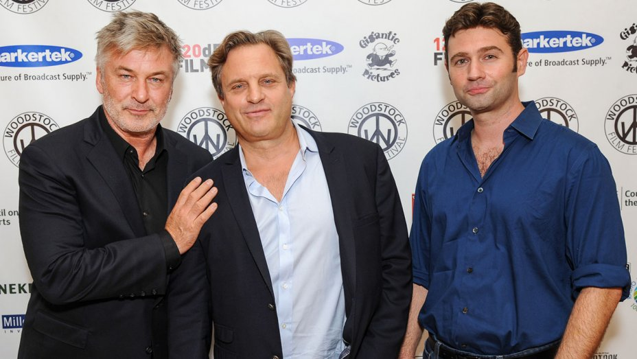 Alec Baldwin,  Director  Michael Mailer , and screenwriter  John Buffalo Mailer  at 2016 Woodstock Film Festival. Photo by Simon Russell.