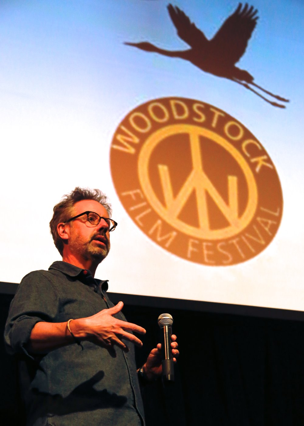 Producer, Peter Saraf (Loving) holds a Q&A at the 17th Annual Woodstock Film Festival. Photo by Matthew Dammer