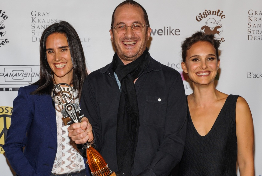 Jennifer Connelly  ,  Darren Aronofsky , and   Natalie Portman   at the 2014 Woodstock Film Festival.