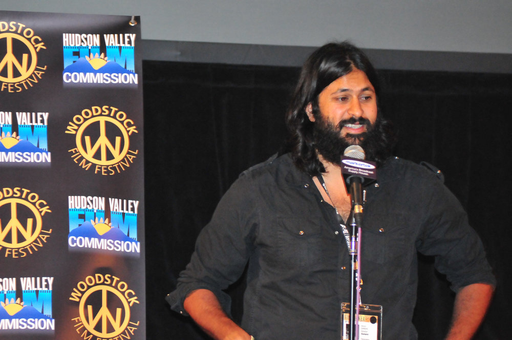 Vikram Gandhi  hosting a Q&A at the 2011 Woodstock Film Festival