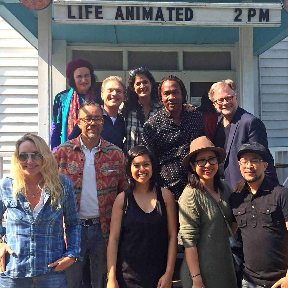 Director  Roger Ross Williams  and friends at special Woodstock Film Festival screening of  LIFE, ANIMATED