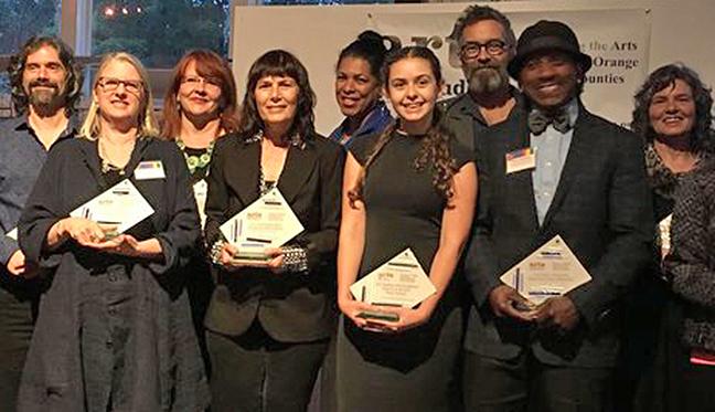 Honorees at the Arts Mid-Hudson awards.