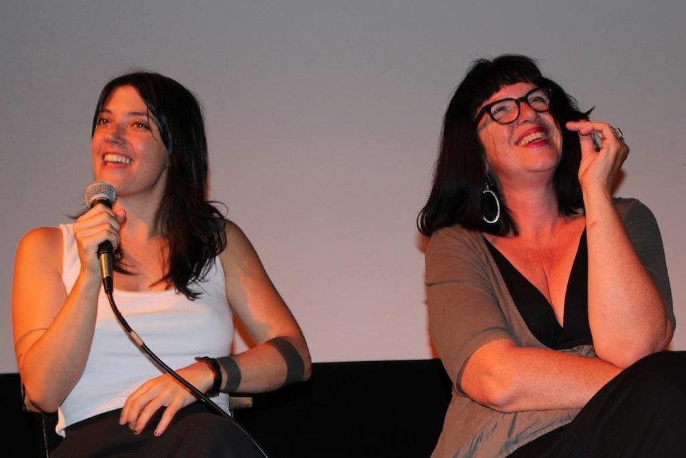 Sharon Van Etten and Katherine Dieckmann at the STRANGE WEATHER Q&A