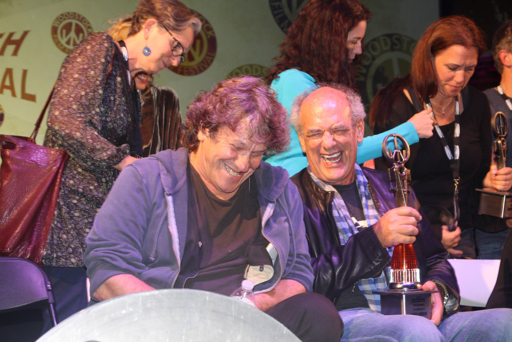 Shep Gordan and Michael Lang at the 2017 Woodstock Film Festival Maverick Awards