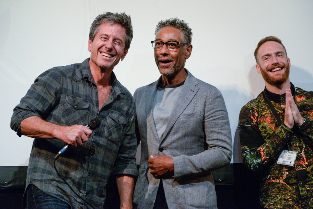 Michael Berry, Giancarlo Esposito and Tim Young, at the kickoff screening of    STUCK    Photo credit: Dion Ogu