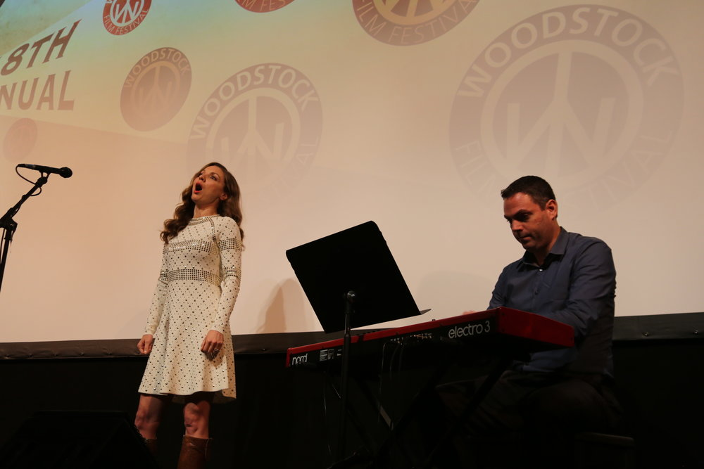 Sarah Joy Miller at the 2017 Woodstock Film Festival kickoff night performance