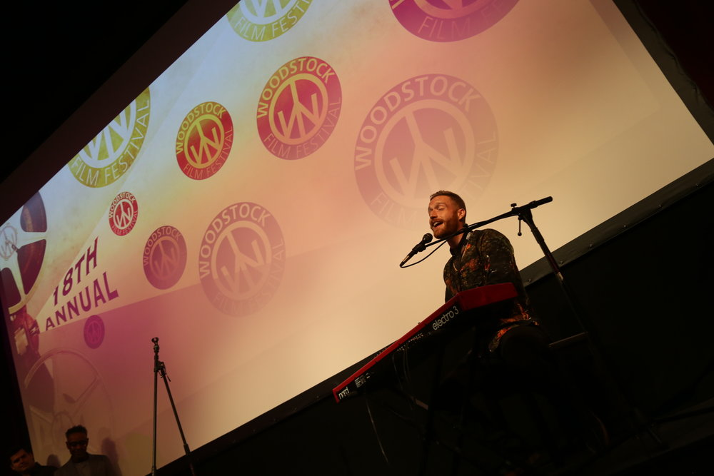 Tim Young at the 2017 Woodstock Film Festival kickoff night performance