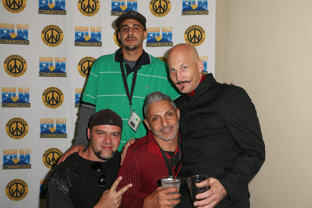 Star of Roll With Me, Gabe Cordell and friends, at the 2017 Woodstock Film Festival Filmmaker Party sponsored by Dutch Culture USA. Photo by: Matt Dammer