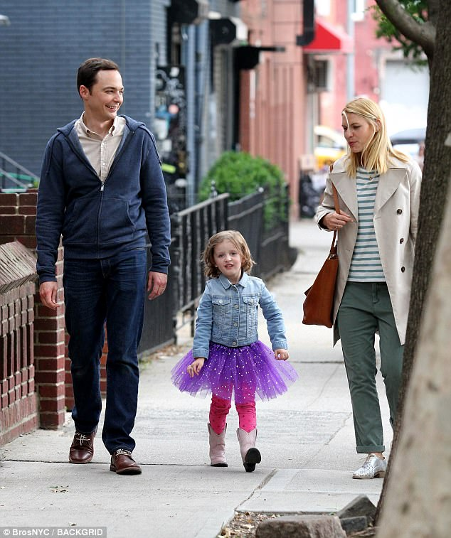 Claire Danes and Jim Parsons on set of A Kid Like Jake