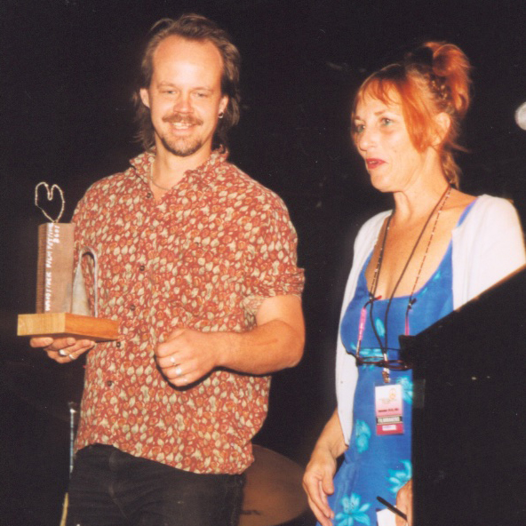 Larry Fessenden and Martha Frankel at 2001 Woodstock Film Festival Maverick Awards