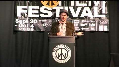 Ethan Hawke presents the Maverick Award to Richard Linklater