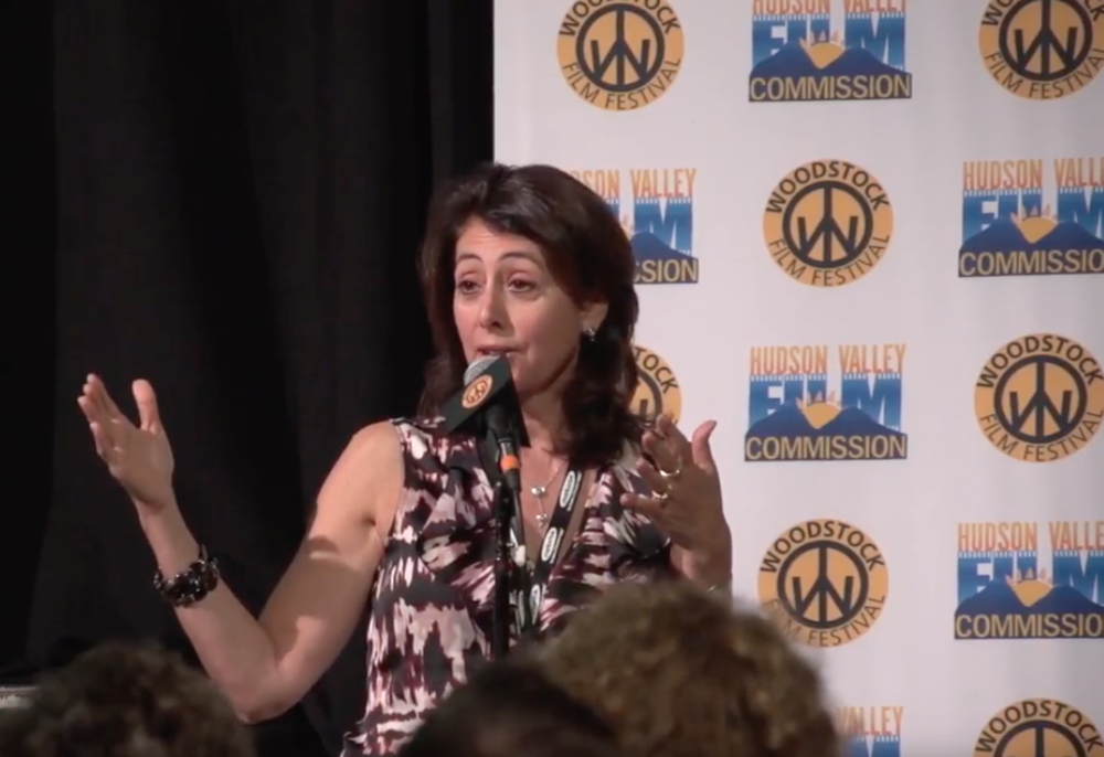 Director Donna Zaccaro participating in a Q&A at the 18th annual Woodstock Film Festival